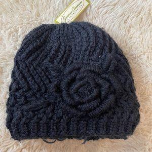 Fleece lined Black Beanie